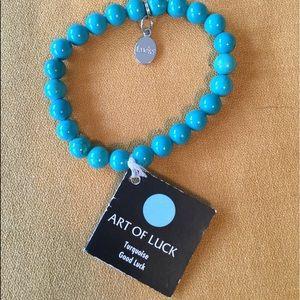 Turquoise Stretch Bracelet, Good Luck Bracelet